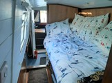 Double berth & stern steps
