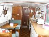 Dinette and galley side
